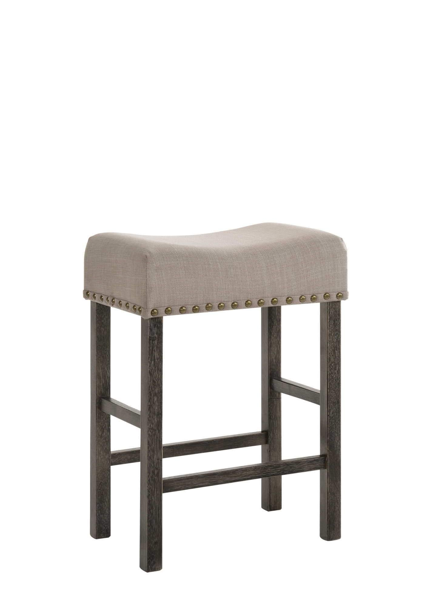 Counter Stool, Backless, Saddle Seat, Upholstered - My USA Furniture