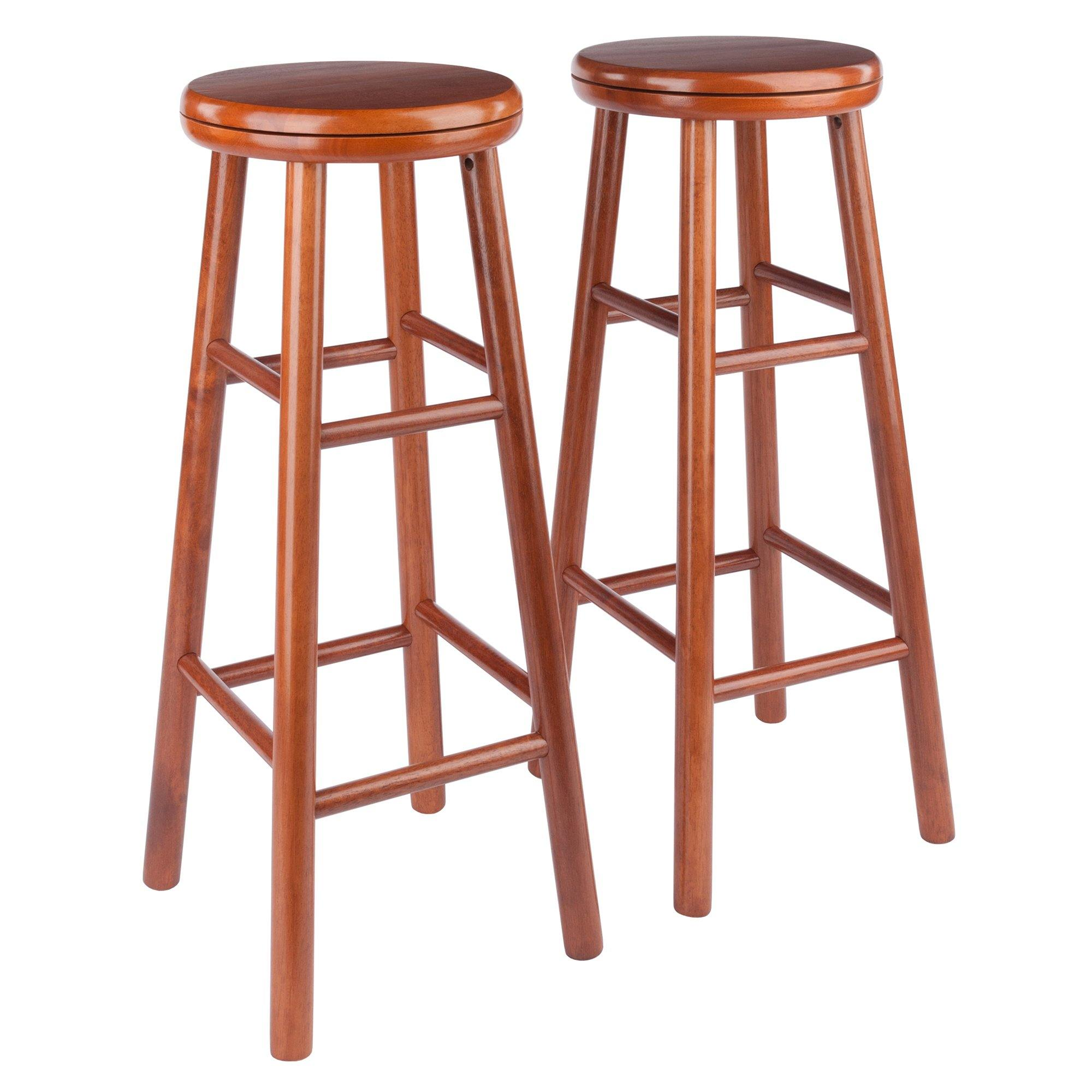 Oakley Swivel Seat Bar Stools, 2-Pc Set, Cherry - My USA Furniture