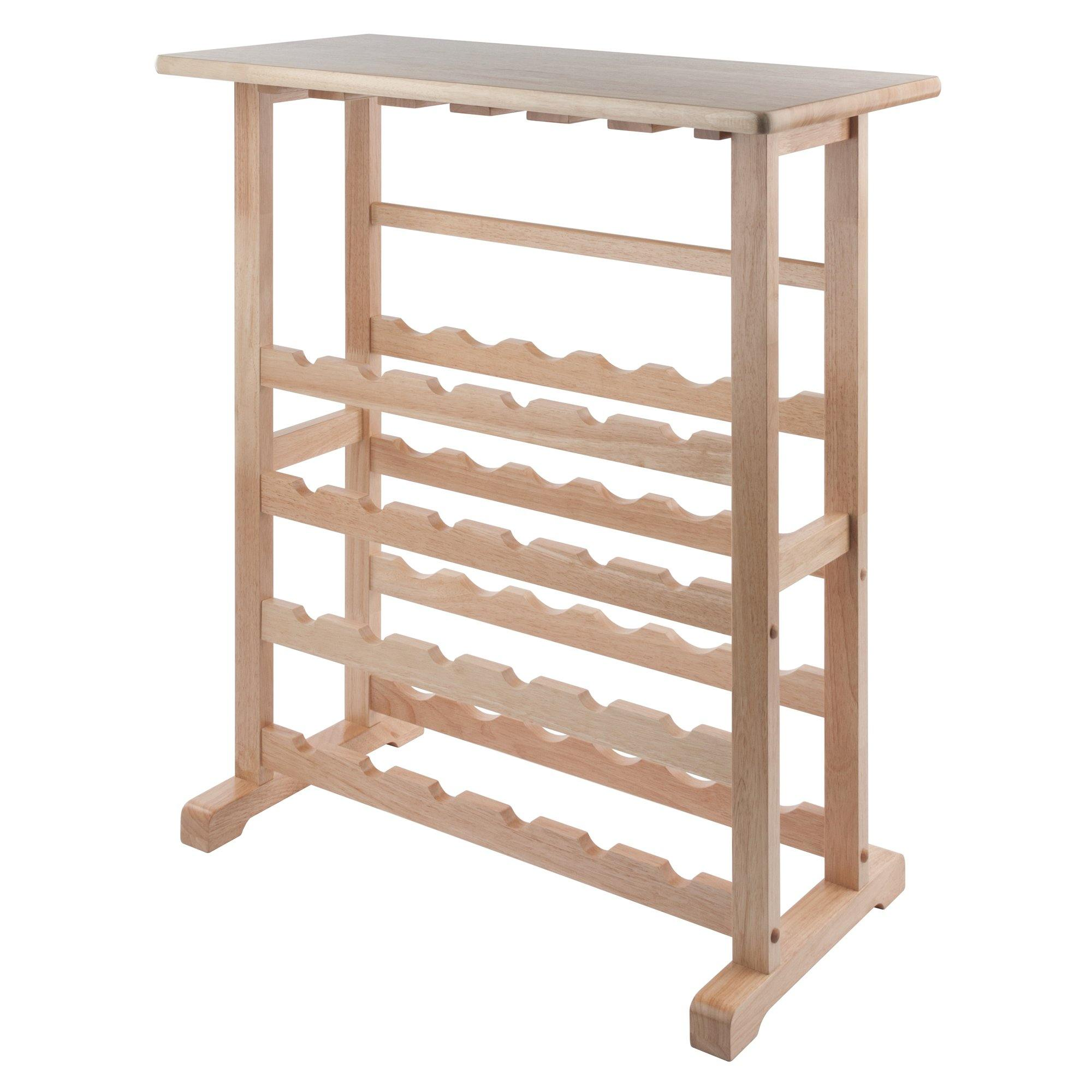 Vinny 24-Bottle Wine Rack, Natural - My USA Furniture
