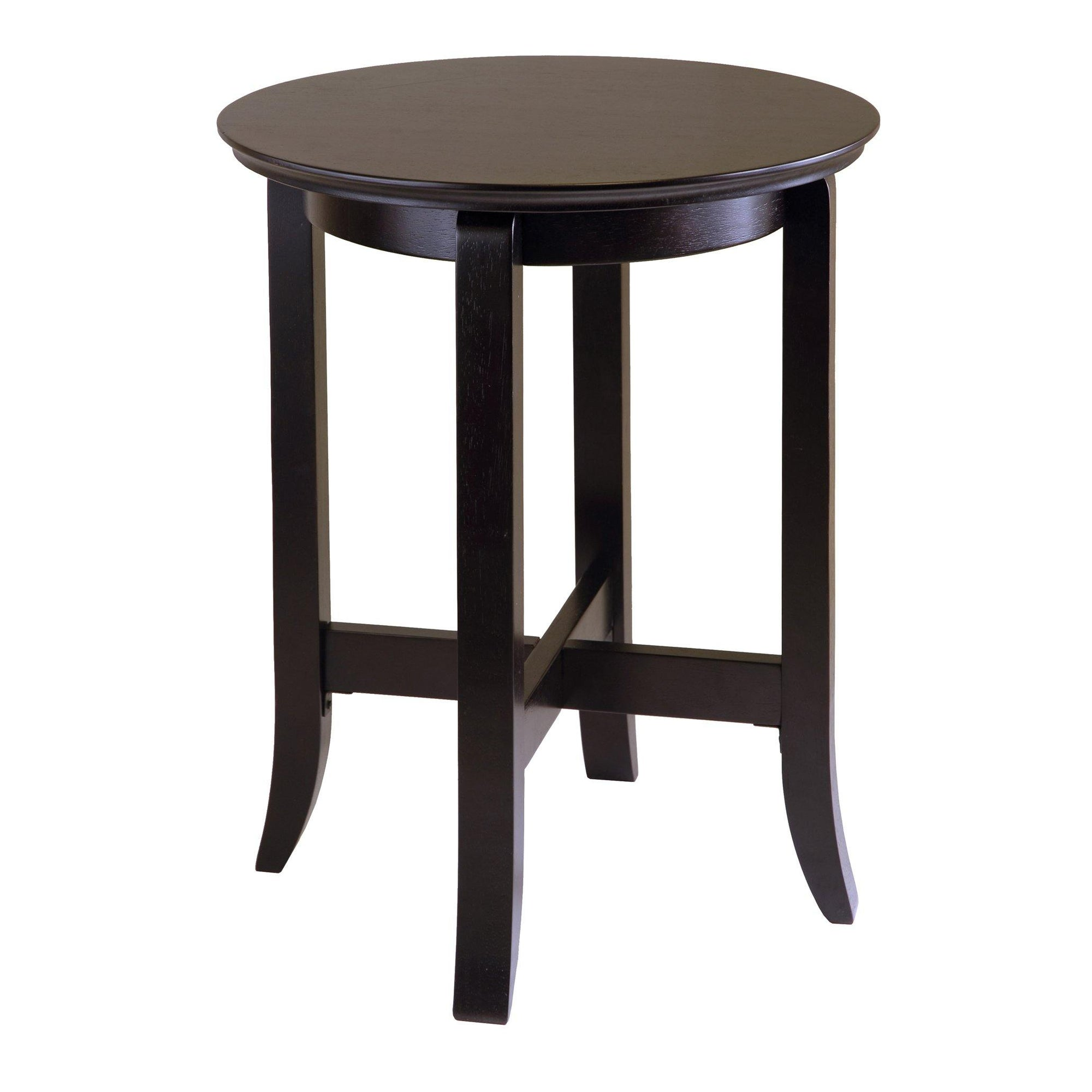 Toby Round Accent End Table, Espresso - My USA Furniture
