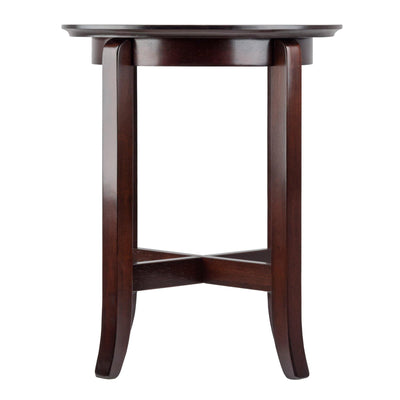 Toby Round Accent End Table, Espresso