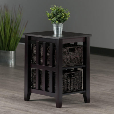 Morris Side Table with 2 Foldable Baskets - My USA Furniture