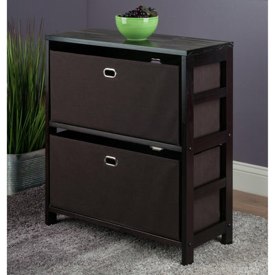 Torino 3-Pc Storage Set, Shelf & 2 Fabric Baskets