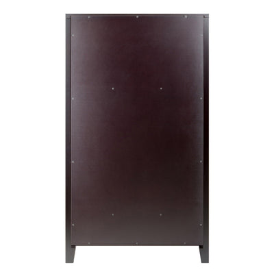 Bordeaux 25-Bottle Modular Wine Cabinet, Espresso - My USA Furniture