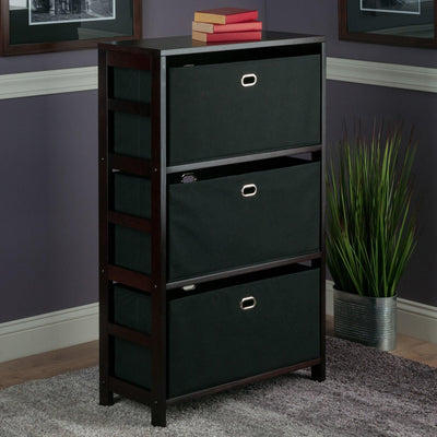 Torino 4-Pc Storage Set, Tall Shelf & 2 Fabric Baskets