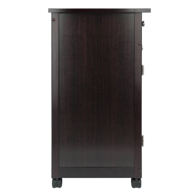 Savannah Utility Kitchen Cart, Espresso - My USA Furniture