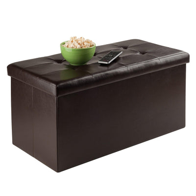 Ashford Rectangular Storage Ottoman, Espresso - My USA Furniture