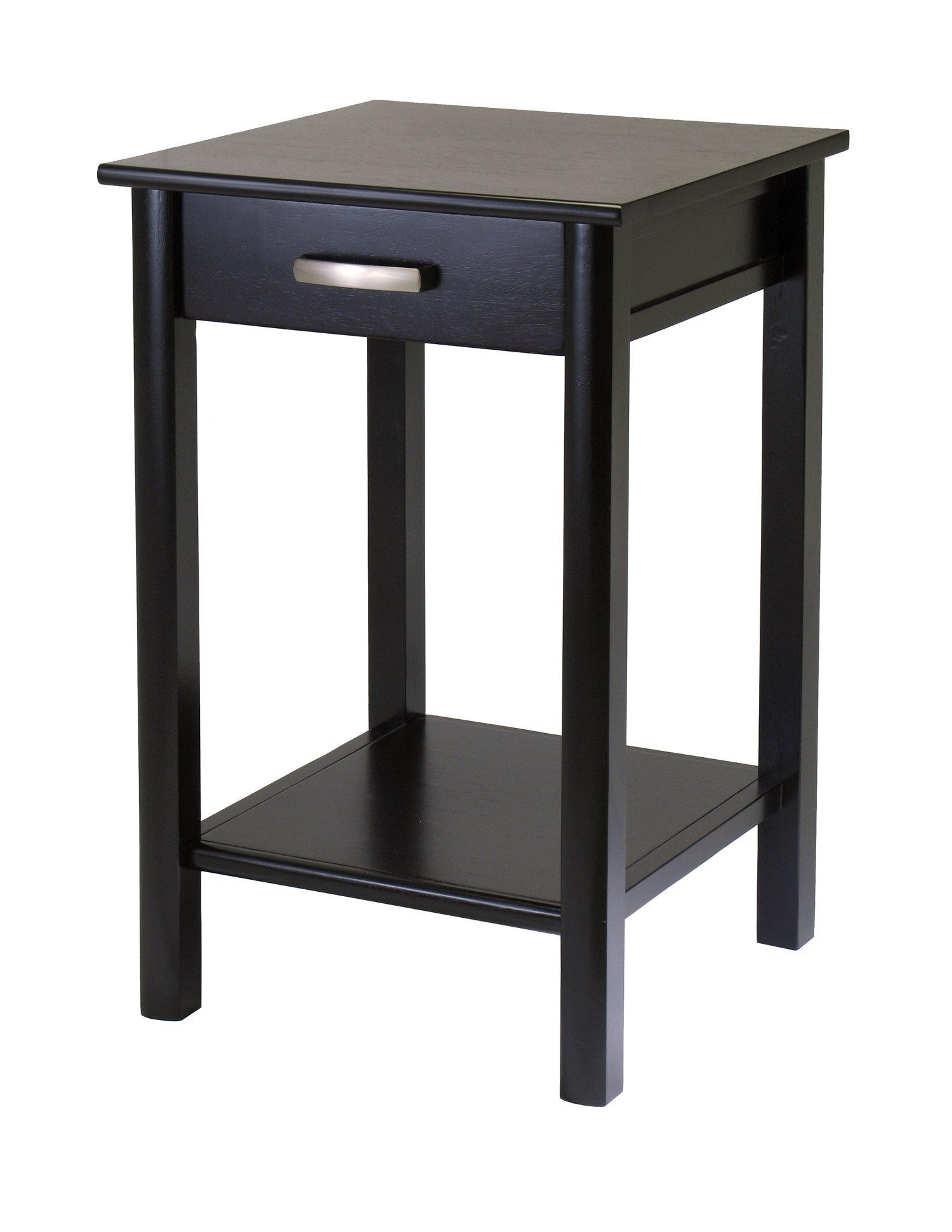 Liso End Table / Printer Table with Drawer and Shelf - My USA Furniture