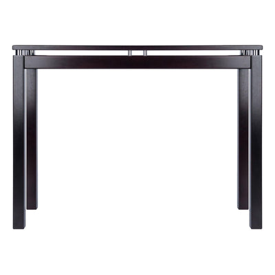 Linea Console / Hall Table with Chrome Accent