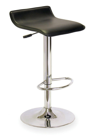 Spectrum Adjustable Swivel Stool, Black & Chrome - My USA Furniture