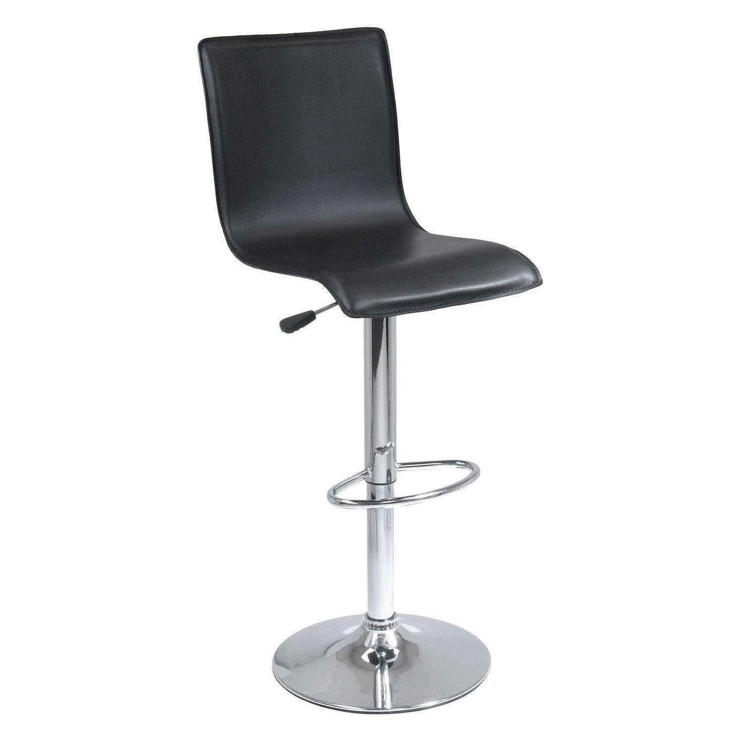 Spectrum High-back Ajustable Swivel Stool, Black & Chrome - My USA Furniture
