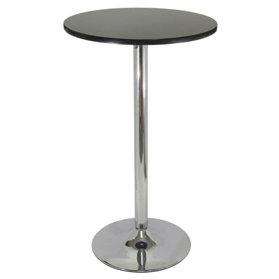 "Spectrum 24"" Round Pub Table, Black & Chrome - My USA Furniture"