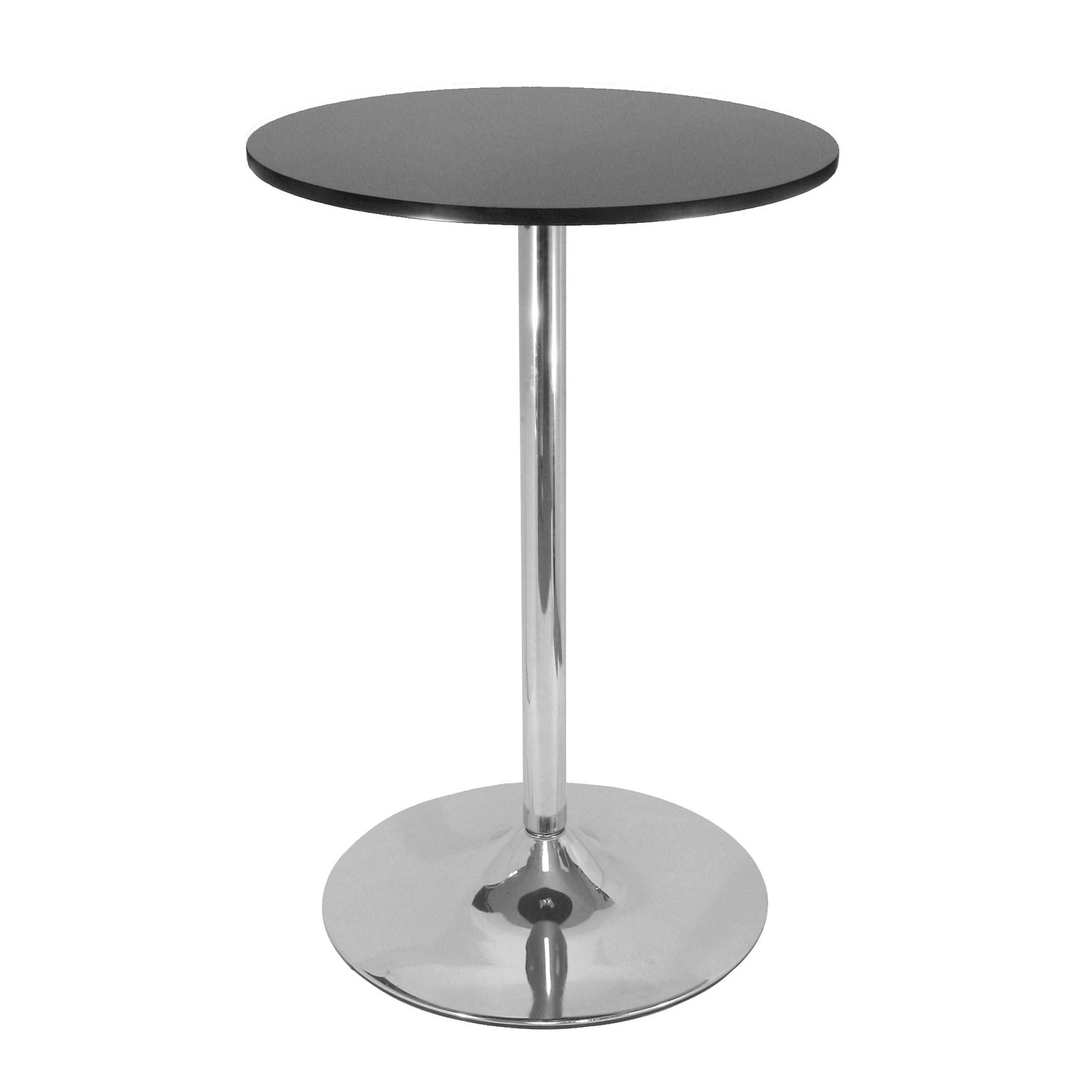 "Spectrum 28"" Round Pub Table, Black & Chrome"