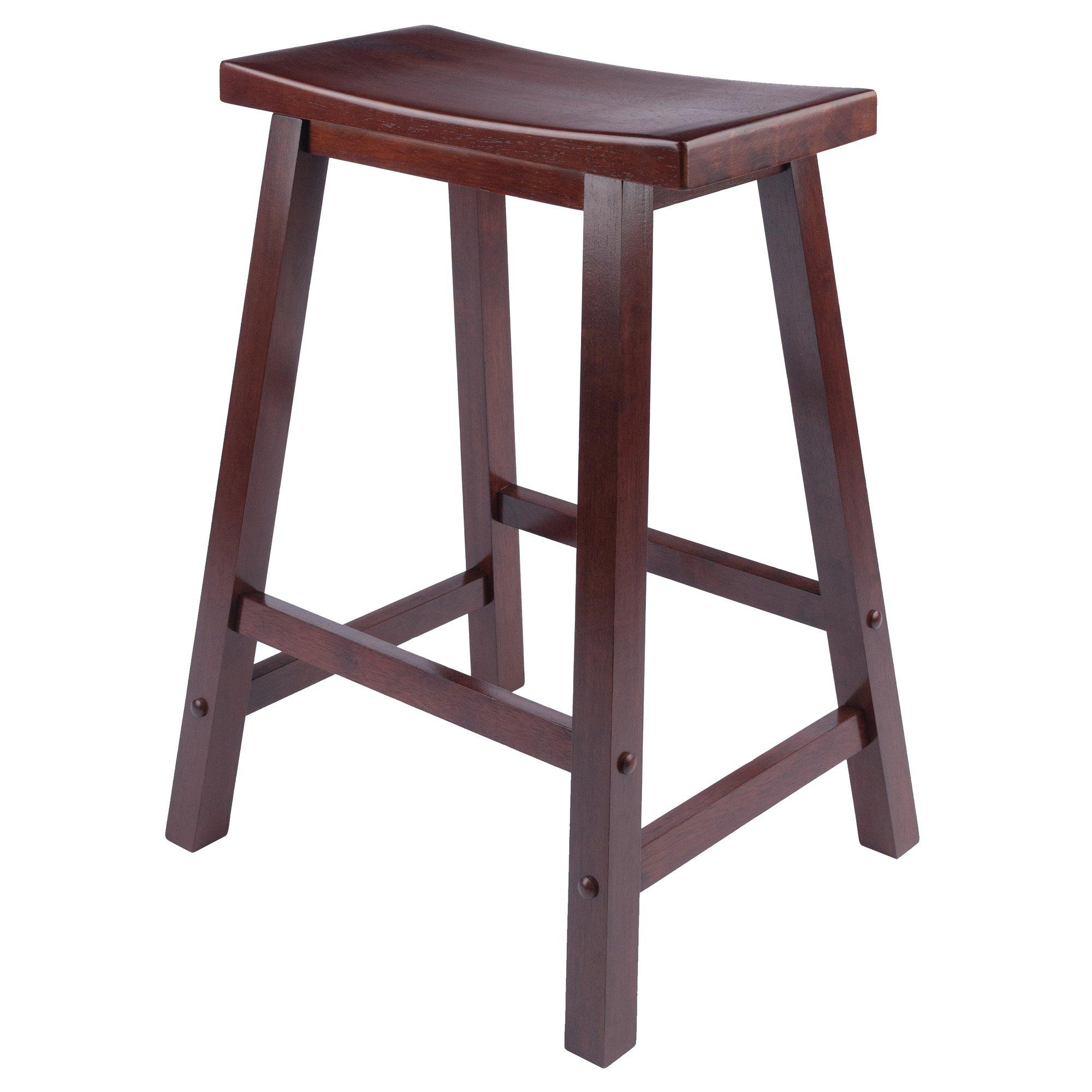 Satori Saddle Seat Counter Stool, Walnut - My USA Furniture
