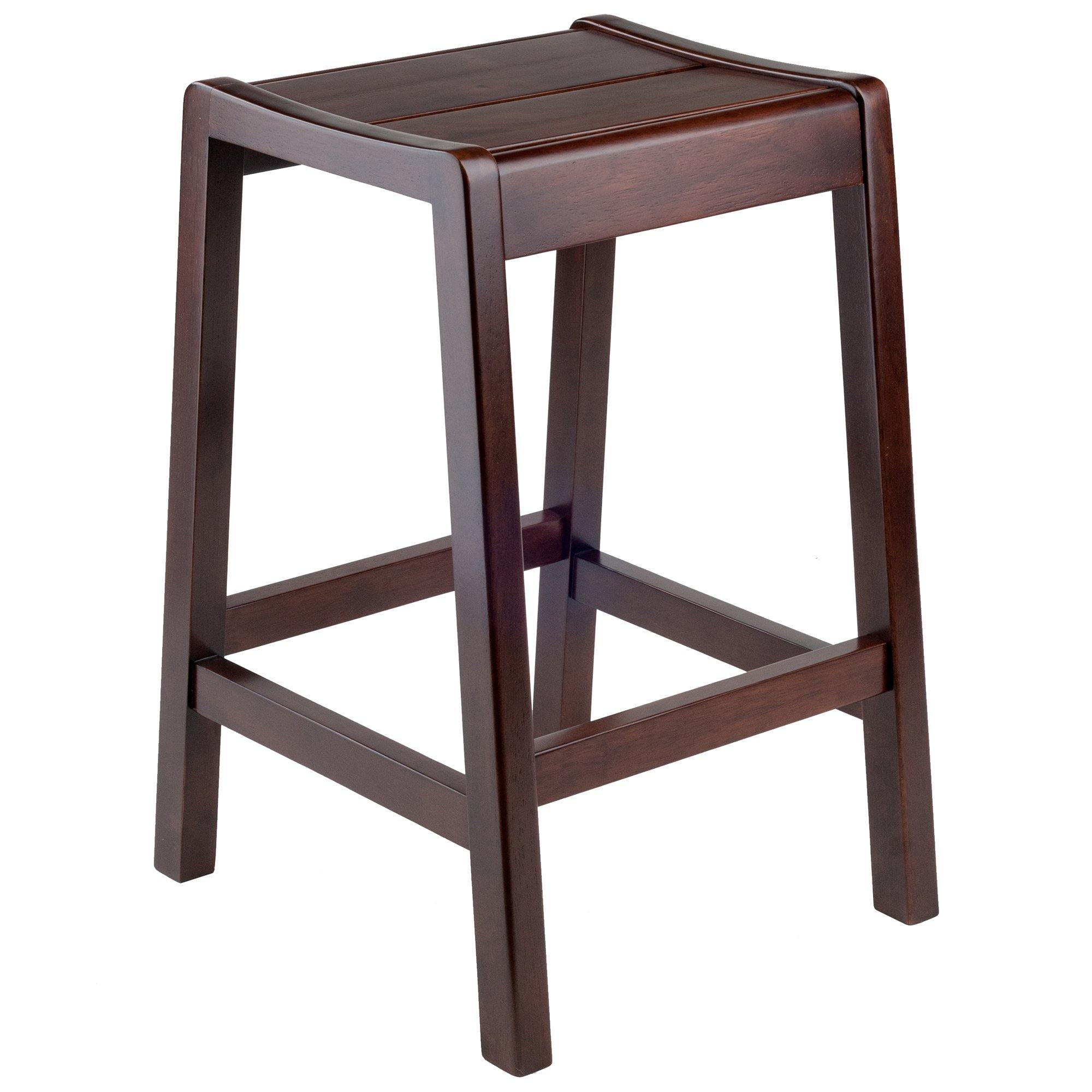 Alicante Concave Seat Counter Stool, Walnut - My USA Furniture
