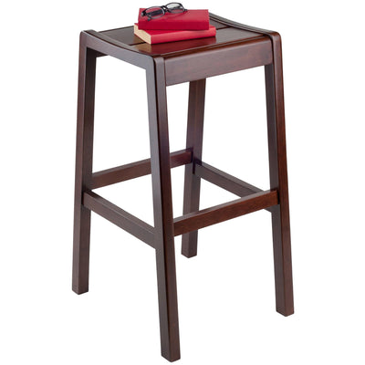 Alicante Concave Seat Bar Stool, Walnut - My USA Furniture