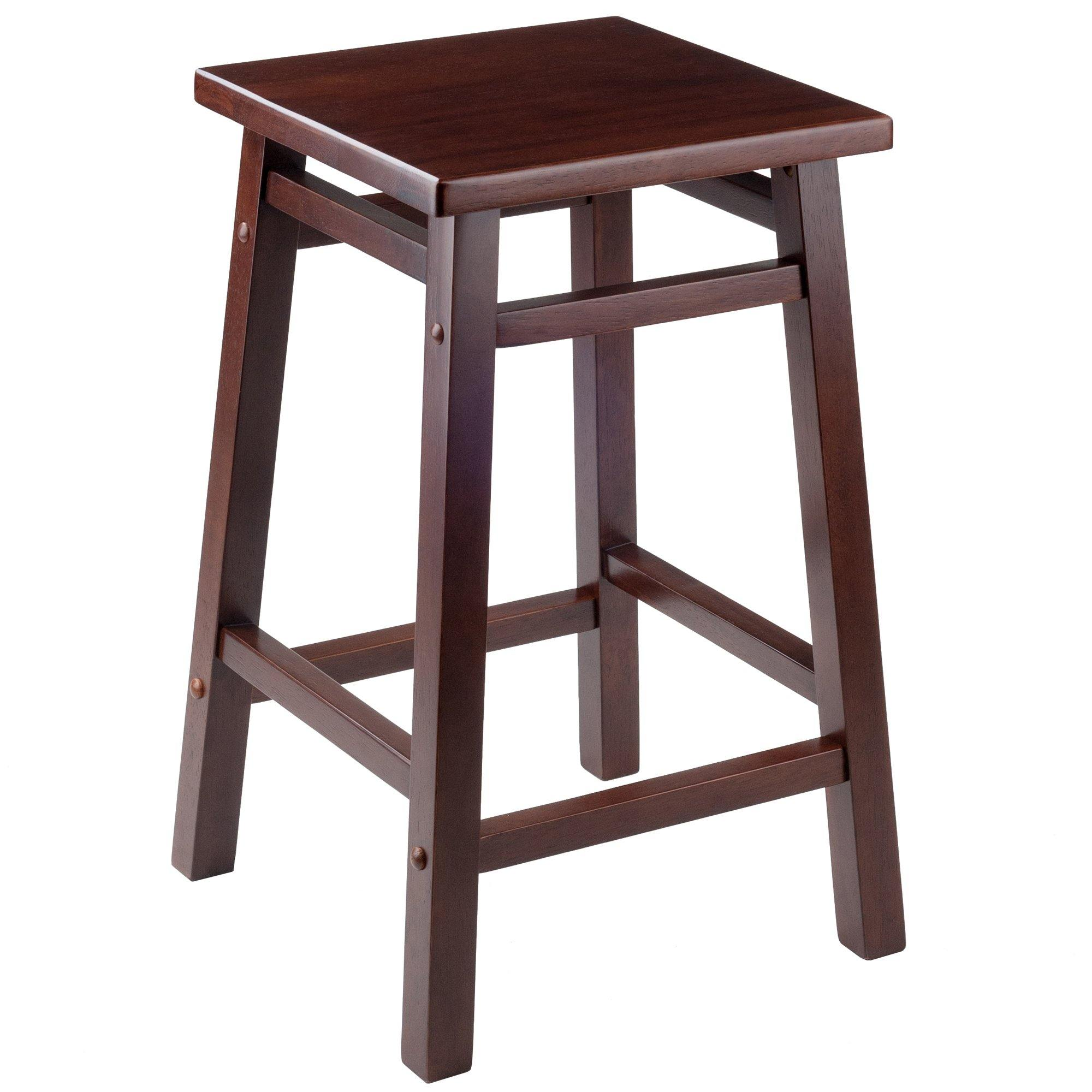 Carter Square Seat Counter Stool, Walnut - My USA Furniture