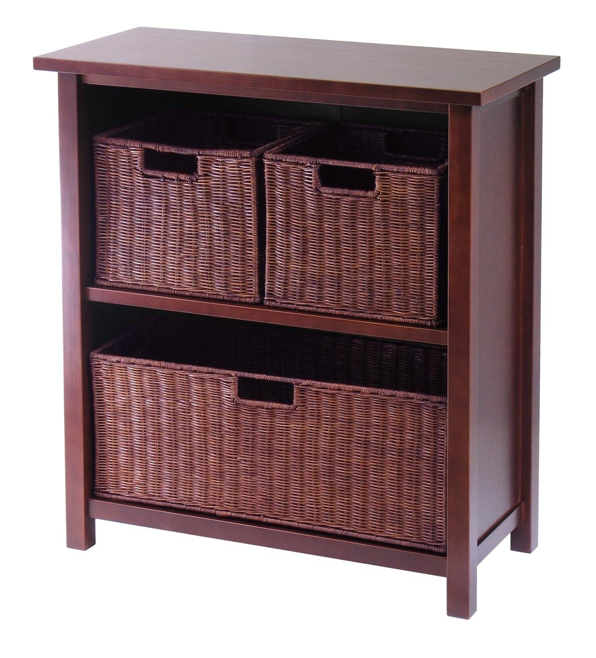 Milan 4Pc Cabinet/Shelf with 3 Baskets - My USA Furniture