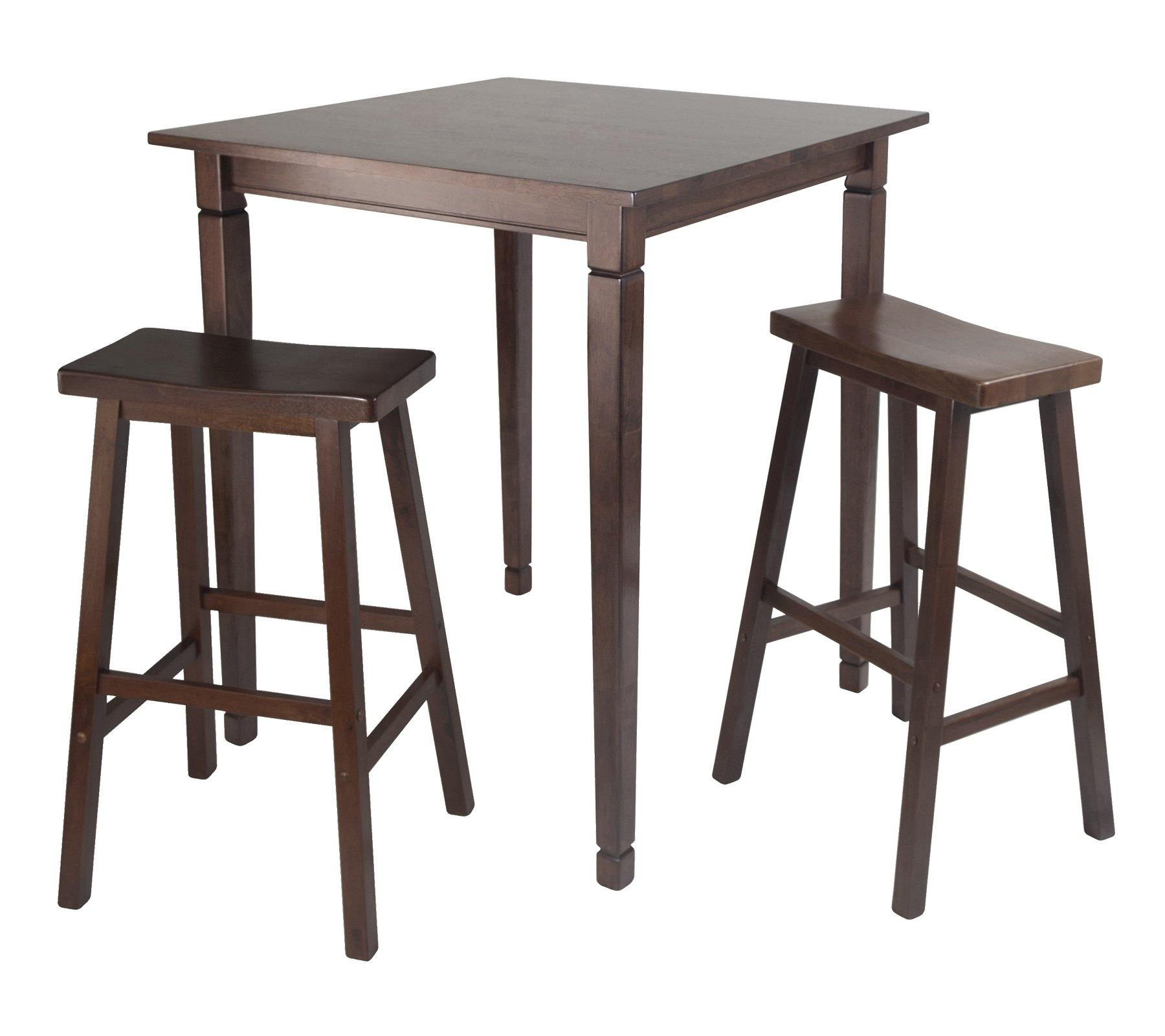 3Pc Kingsgate High/Pub Dining Table with Saddle Stool - My USA Furniture