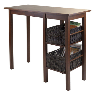 Egan 3-Pc Breakfast Table with 2 Baskets Set - My USA Furniture