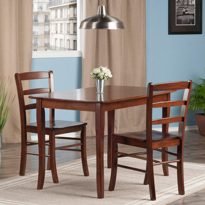 Inglewood 3-Pc Set Dining Table w/ 2 Ladderback Chairs - My USA Furniture