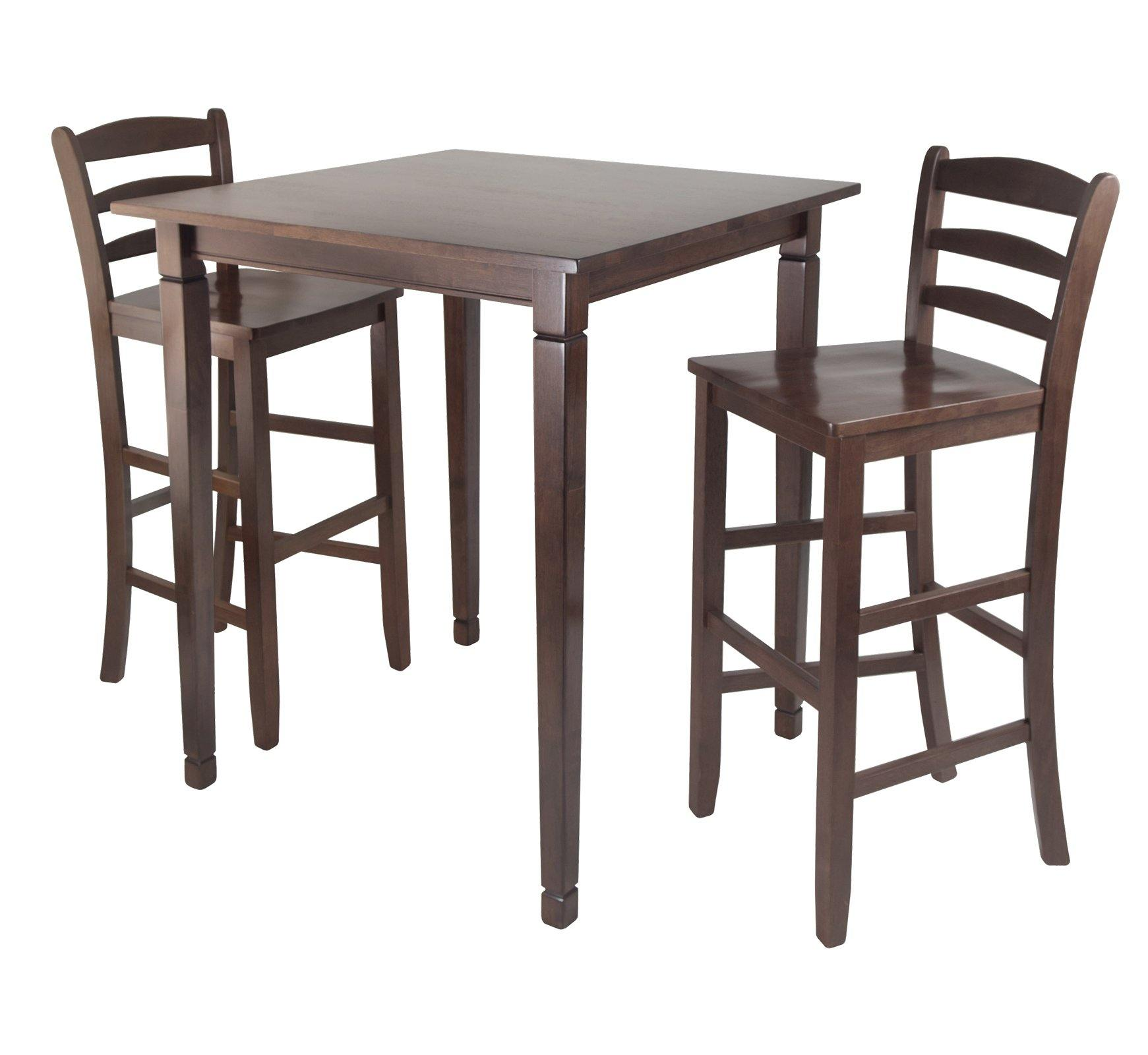 3-Pc Kingsgate High/Pub Dining Table with Ladder Back High Chair - My USA Furniture