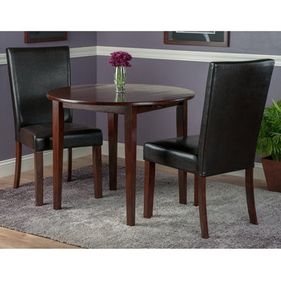 Clayton 3-Pc Set, Drop Leaf Table & 2 Faux Leather Chairs - My USA Furniture