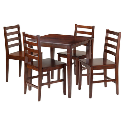 Kingsgate 5-Pc Dining Table with 4 Hamilton Ladder Back Chairs - My USA Furniture