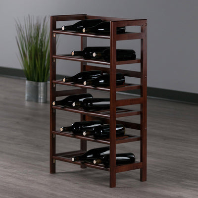 Silvi Wine Rack, 30-Bottle, - 6-Tier - My USA Furniture