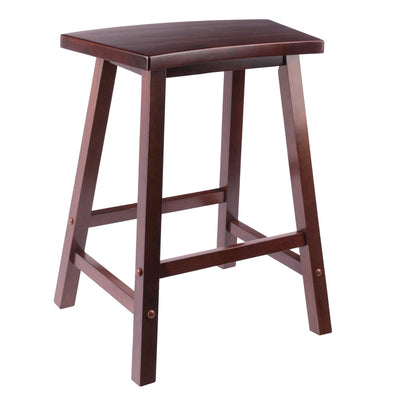 Katashi Fan Shape Counter Stool, Walnut - My USA Furniture