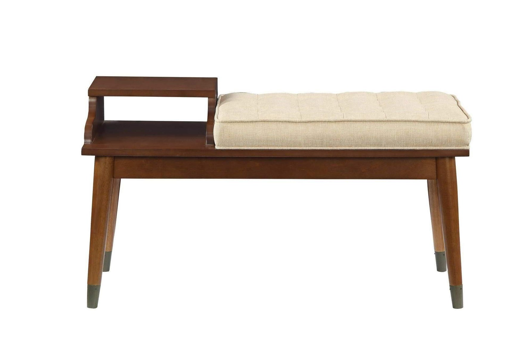 Elegant Hallway Bench, Mid Century, Upholstered - My USA Furniture