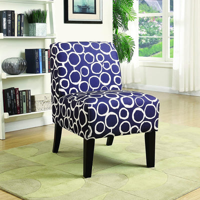 Armless Acccent Chair, Elegant and Comfortable, Perfect for Bedroom