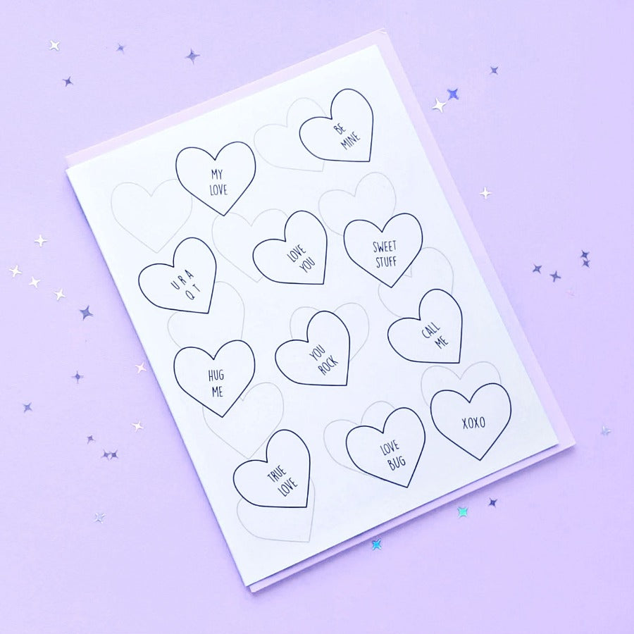 Raining Hearts Card