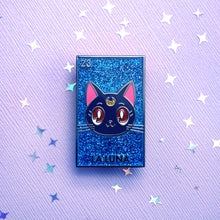 Load image into Gallery viewer, La Luna Pin (Glitter Background)