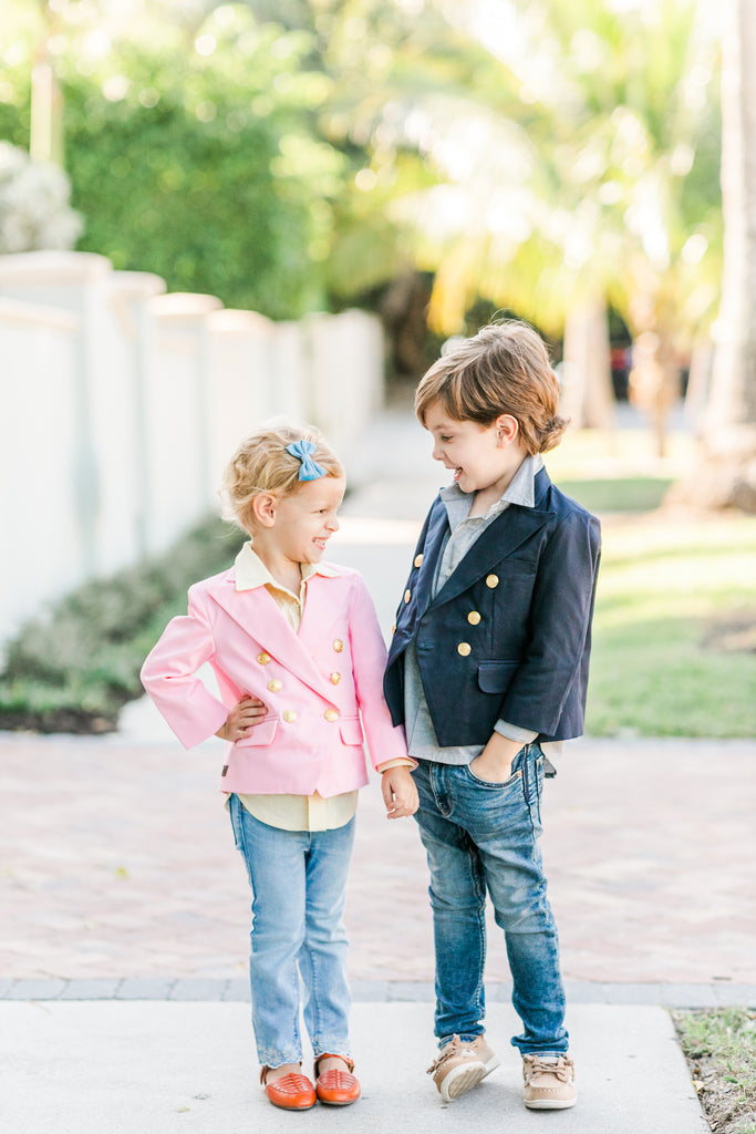 Kids Organic Double Breasted Blazer