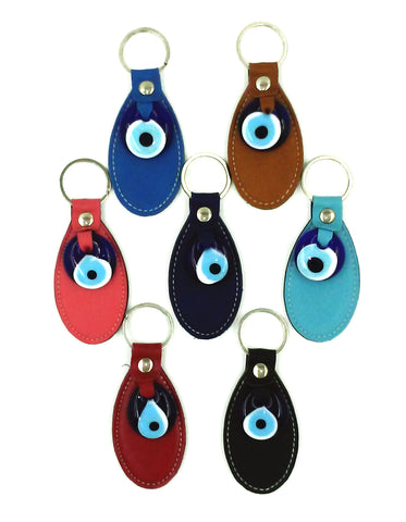 Evil Eye Leather Key chain # 1006