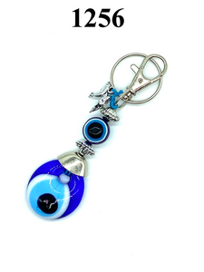 Evil Eye Mini Dolphins Key Chain #1256