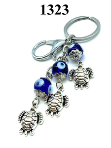 Evil Eye Glass with turtle key chain #1323