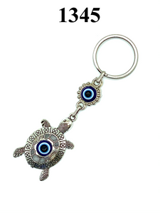 LuckyEye Silver Turtle Key Chain #1345