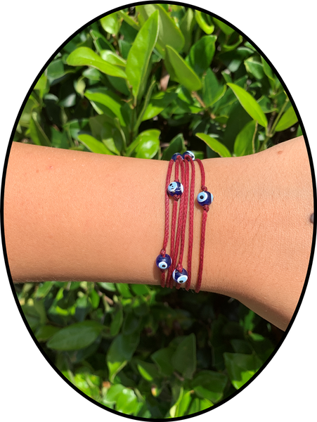 Rope Evil Eye Wrap Around Bracelet #2330