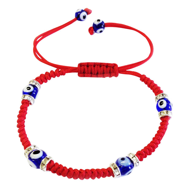 6mm Small  Evil Eye Macrame Bracelet#2708