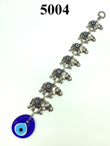 7 Elephants with evil eye and glass evil eye Home Decor #5004
