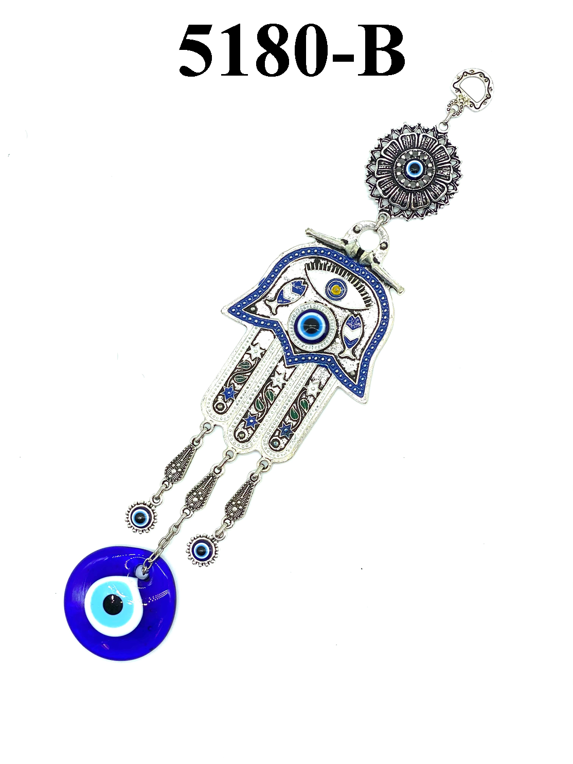 Evil Eye Hamsa and Glass Lucky Eye Talisman Home Decoration #5180-B