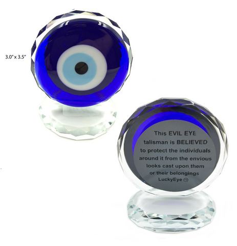 Evil Eye Crystal With Silver Trim #5410
