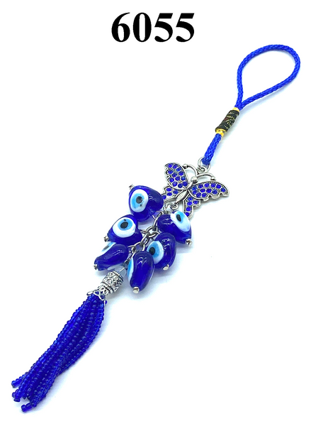 Evil Eye & Crystal Butterfly Car Hanging Accessory #6055