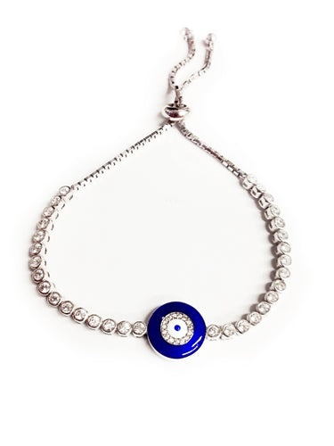 925 Sterling Silver Lucky Evil Eye Bracelet