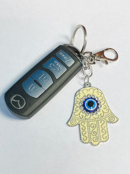 Evil Eye Hamsa Hand Key chain #1025