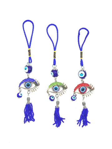 Turkish Evil Eye Heart Butterfly Car Hanging Accessory #6058
