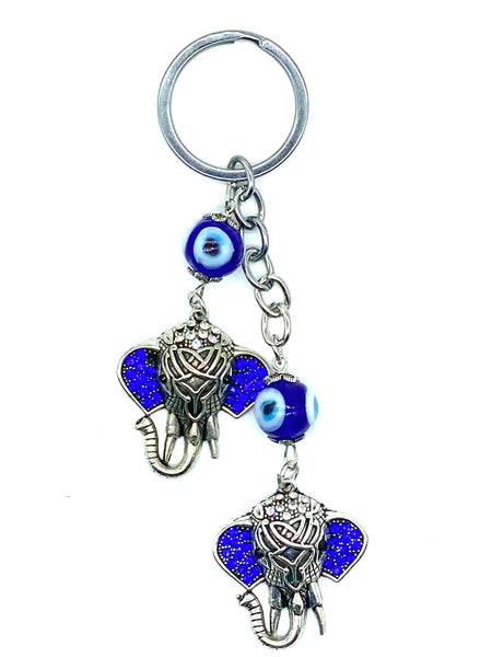 Evil Eye Elephant Key Chain  #1321