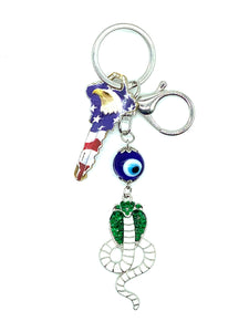 Lucky Eye Cobra KeyChain  #1341